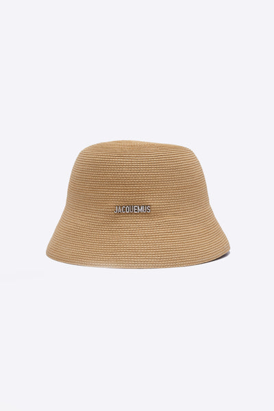 Jacquemus - Le Bob Manosque Natural Braided paper bucket hat
