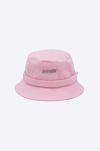 Jacquemus - Le Bob Gadjo Light Pink Canvas bucket hat
