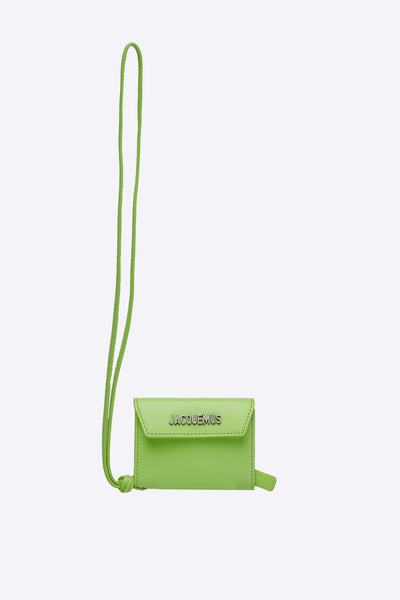 Jacquemus - Le Porte Jacquemus Neon Yellow Bifold leather wallet