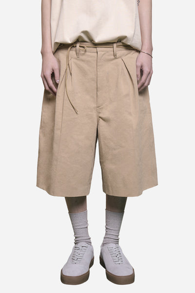 Off-White - Pleated Boxy Short Oatmeal