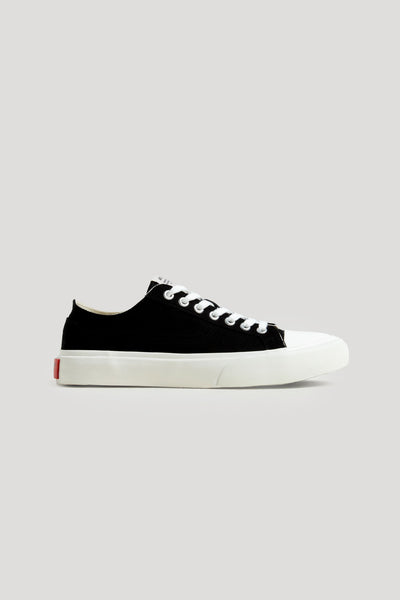 Article No. - 1007 Low top Vulcanized Sneaker Black