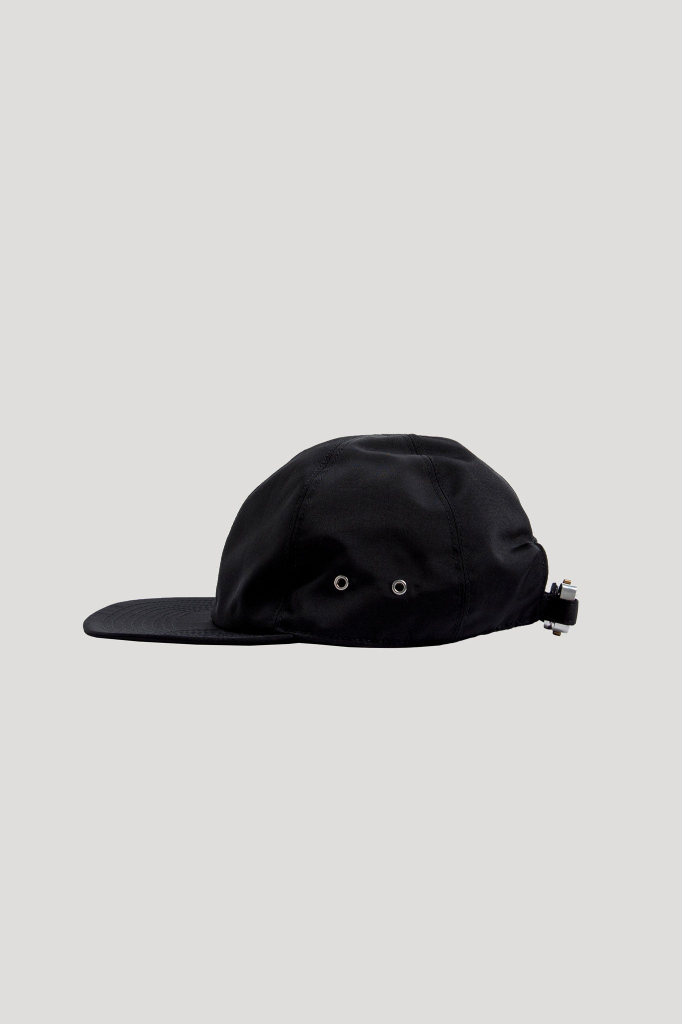Baseball Cap With Buckle Black