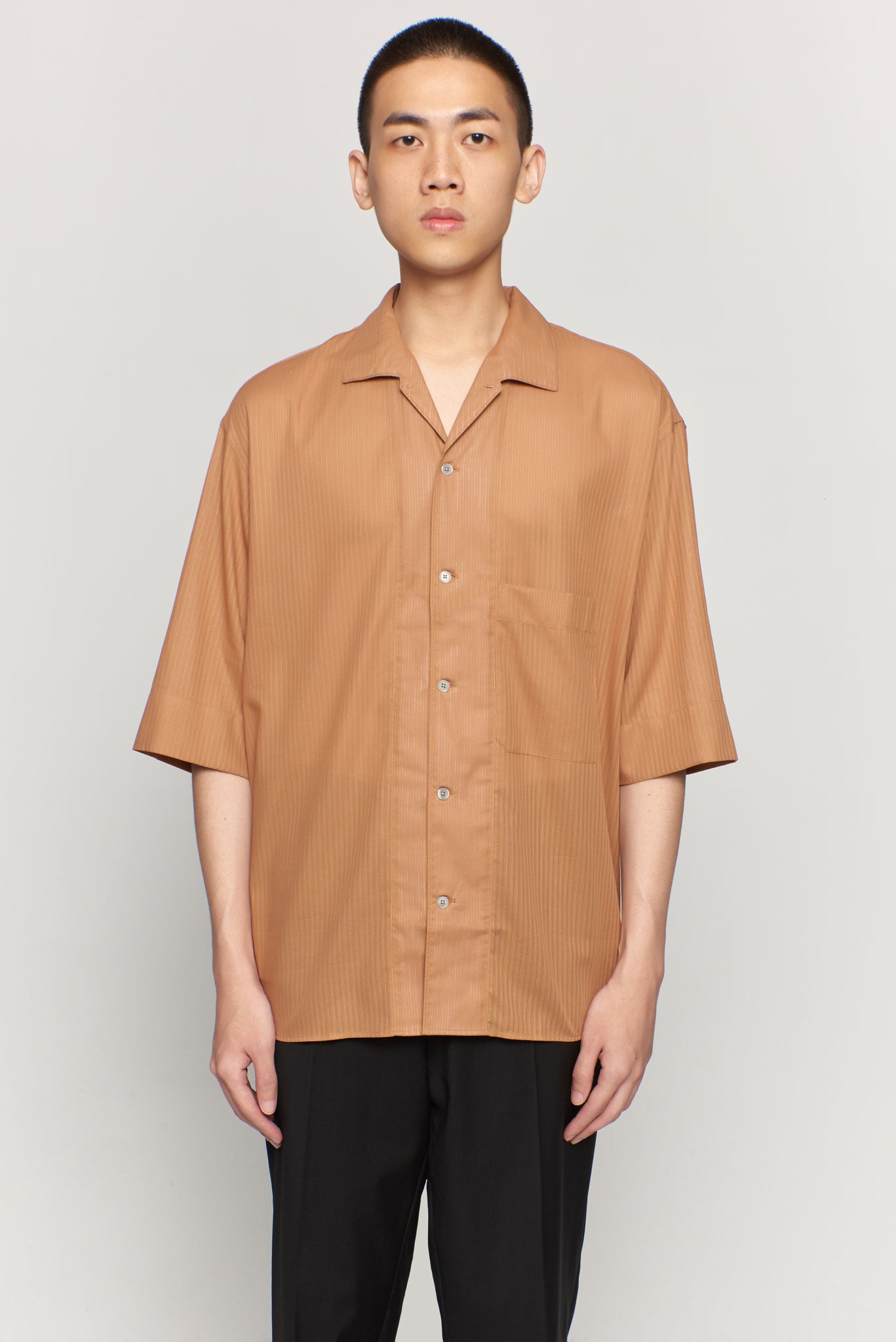 Convertible Collar Shirt Dune