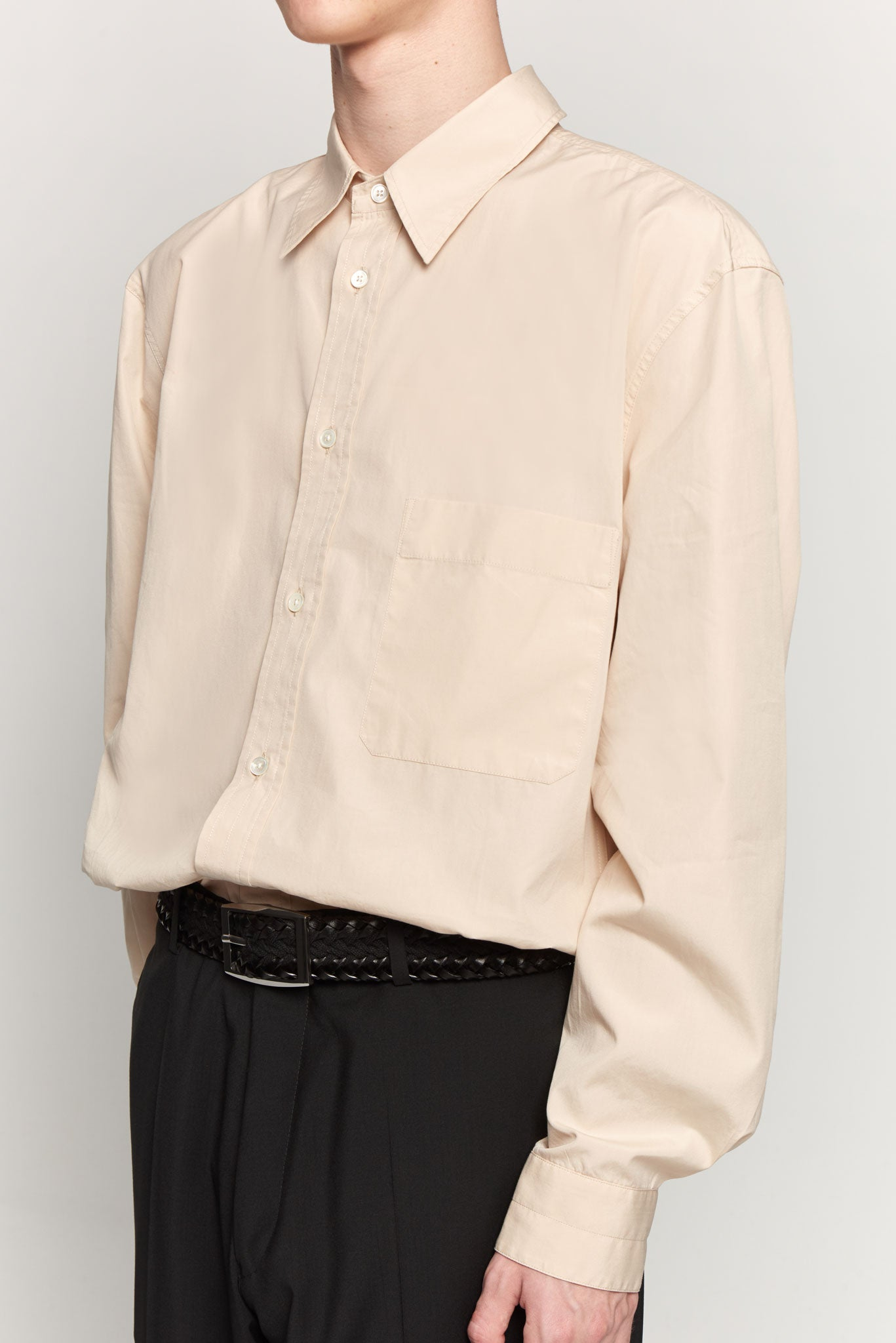 Straight-collar Shirt Nude