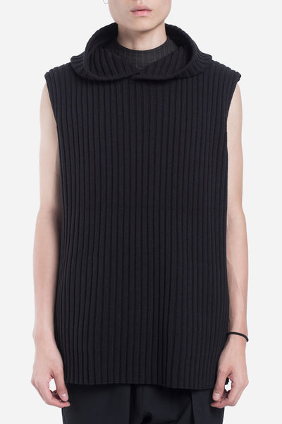 Seven Seconds of Memory - Saks Sleeveless Rib Hoodie Dry Onyx