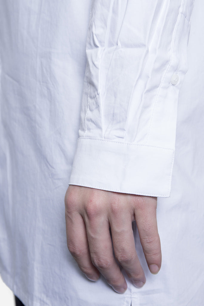 Elongated Button Down White