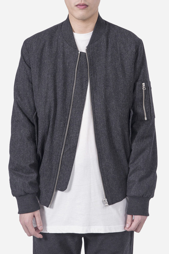 Mark Bomber Dark Grey