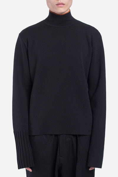 seven seconds of memory - Uni Loose Turtleneck Dry Onyx + Burnt Orange