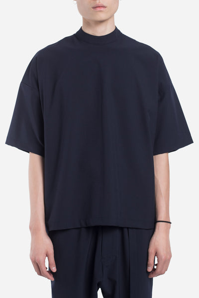 Seven Seconds of Memory - Jess Mock Zip Drop Shoulder Tee Nightfall Navy