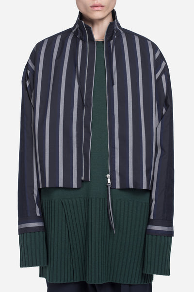 Seven Seconds of Memory - Formosa Court Jacket Greystone / Nightfall Stripes