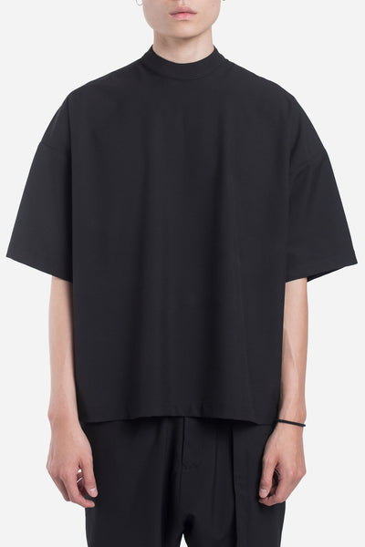 Seven Seconds of Memory - Jess Mock Zip Drop Shoulder Tee Dry Onyx
