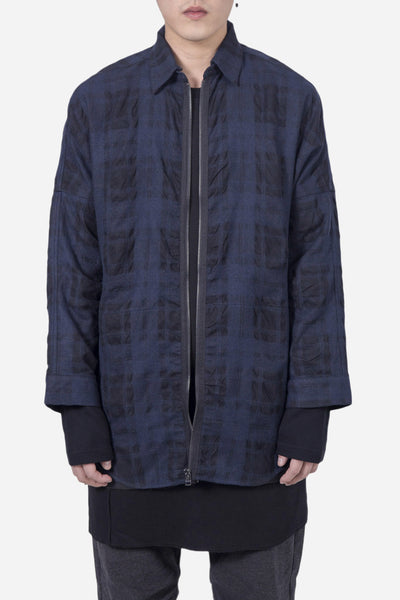 Chapter - Velt Zip Shirt Navy Check