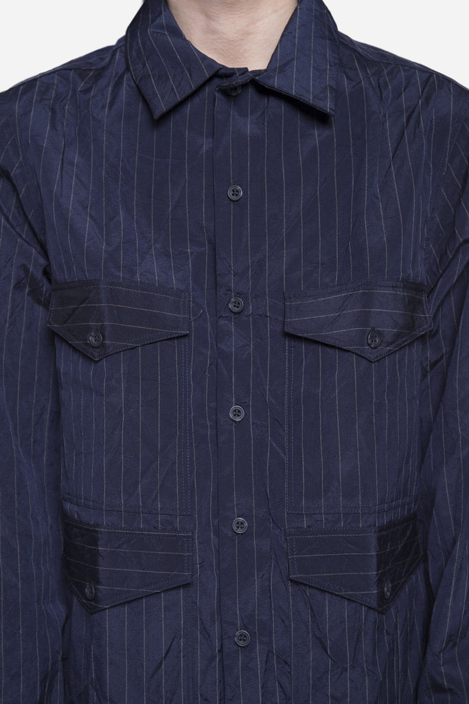 4 Pocket Shirt Navy Pinstripe