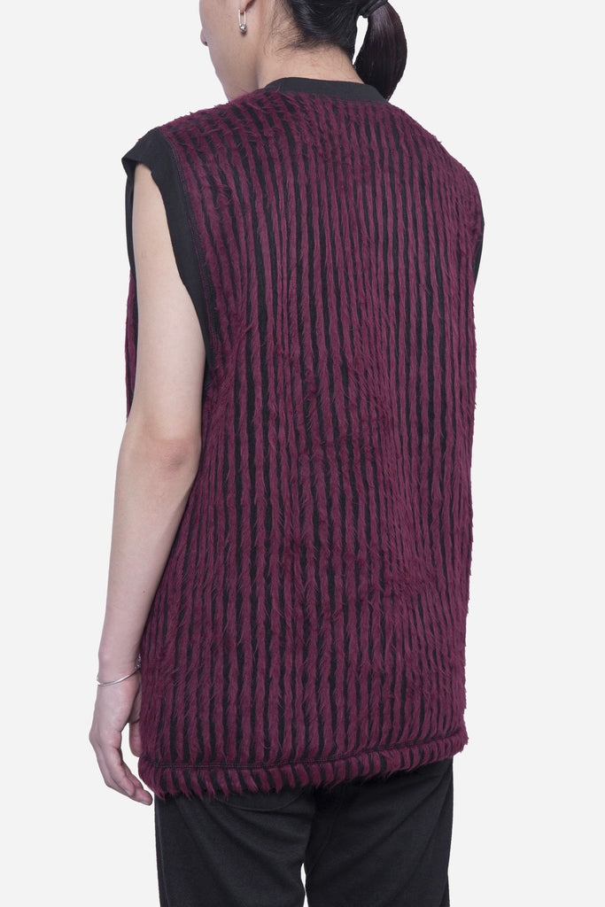 Hairy Stripe Sleeveless Crew Red/Black
