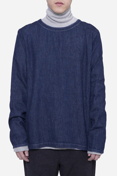 Our Legacy - Weaved LS Tee Blue Denim