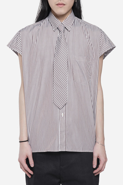 CMMN SWDN - Sly Shirt Brown Stripe