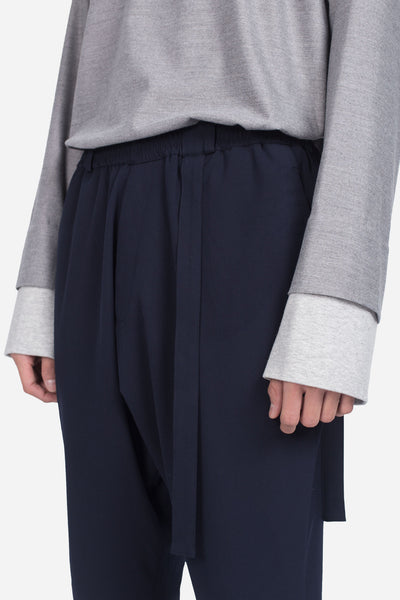Mich Cropped Casual Trouser Nightfall Navy