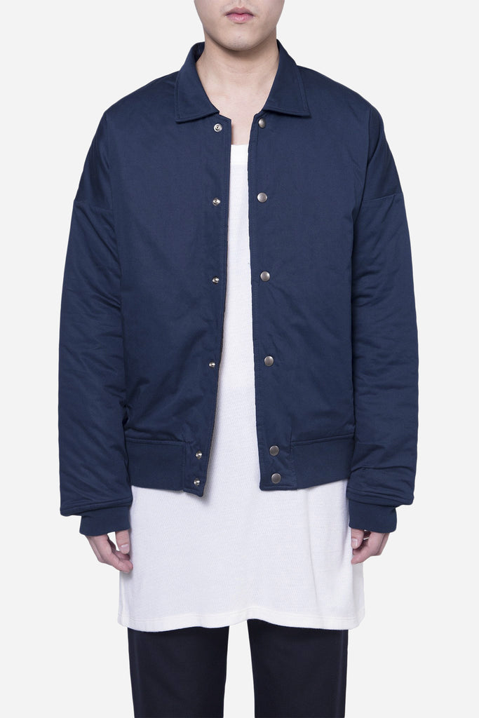 Drop Shoulder Coach Jacket Navy