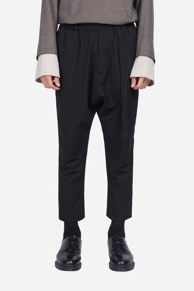 Seven Seconds of Memory - Mich Cropped Casual Trouser Dry Onyx