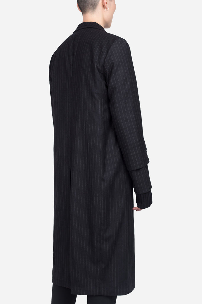 Doc Long Coat Dry Onyx Muted Stripe