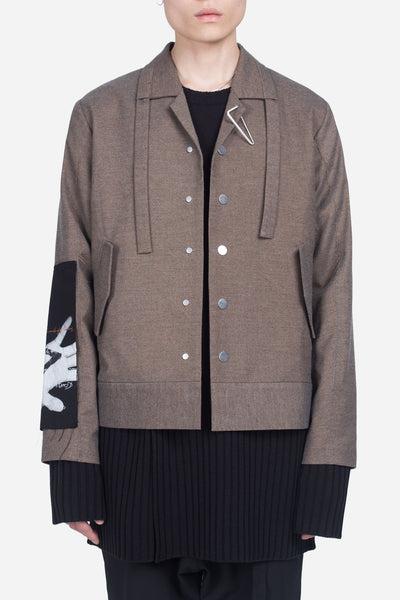 Seven Seconds of Memory - Seth Cropped Jacket Mud