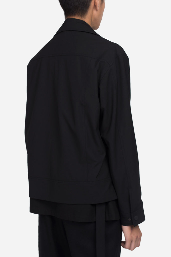 Lou Cropped Jacket Dry Onyx