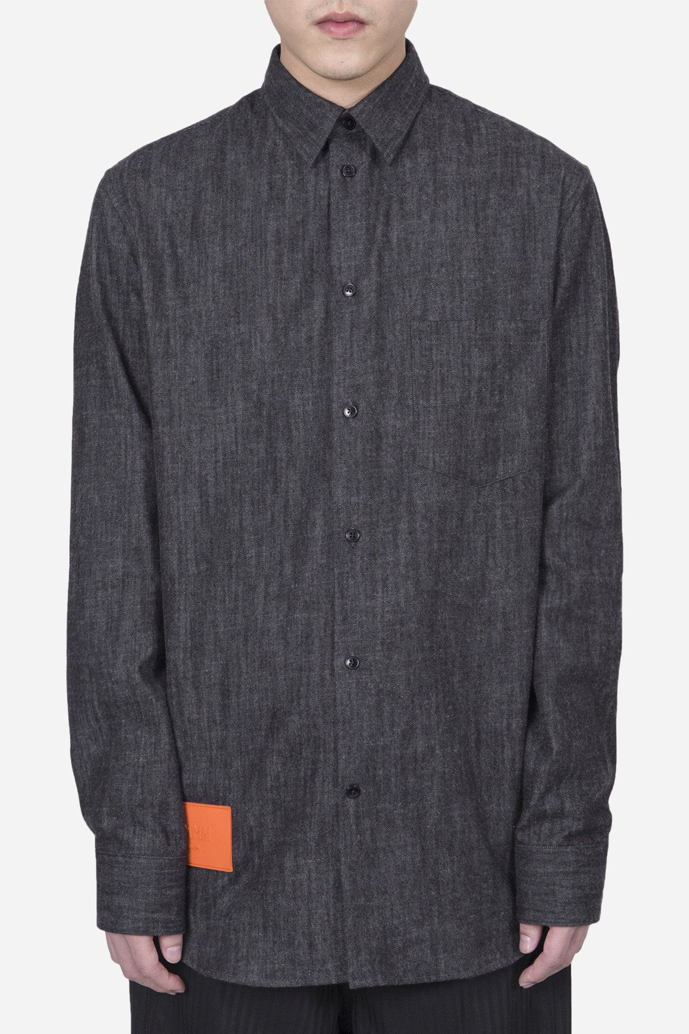 Felix Denim Shirt Black/Orange