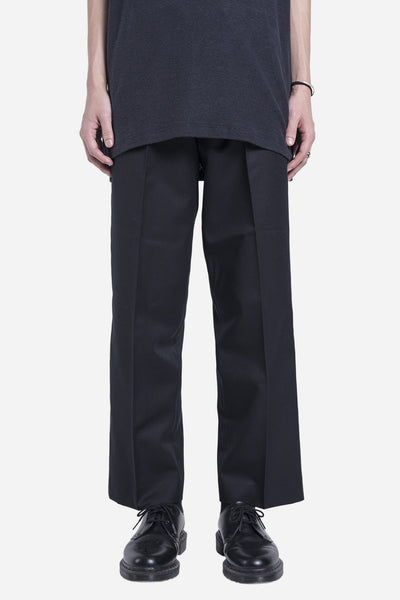 Matthew Miller - Cropped Wide Trouser Black