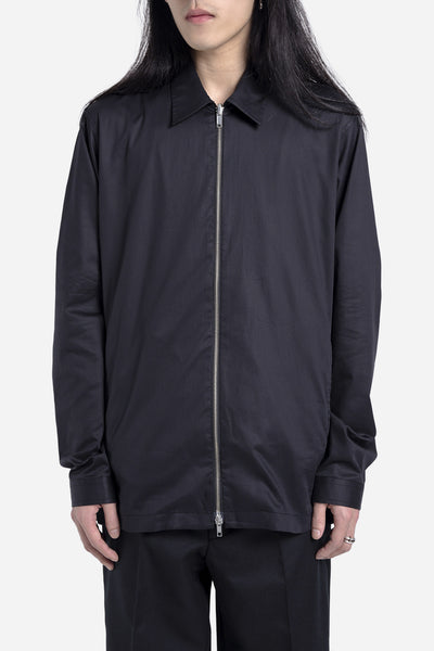 Casely Hayford - Dante Zip Through Shirt Jacket Black Twill