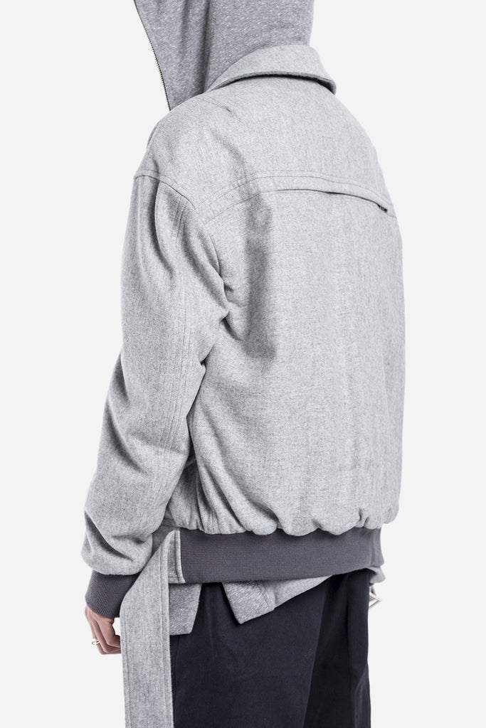 Collared Bomber Grey