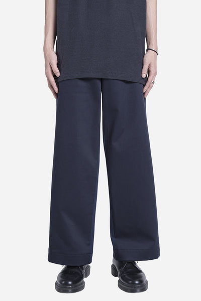 Casely Hayford - Downey Wide Pleated Trousers Dark Navy