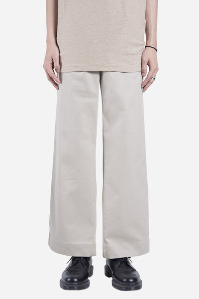 Casely Hayford - Downey Wide Pleated Trousers Light Khaki