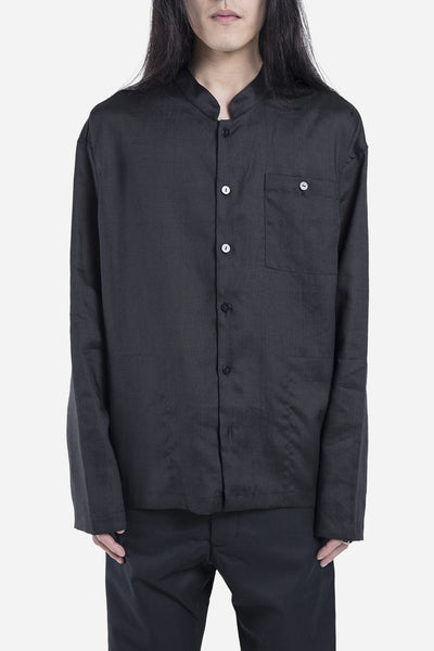 Fanmail - Linen Shirt Jacket Black