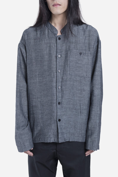 Fanmail - Linen Shirt Jacket Blue
