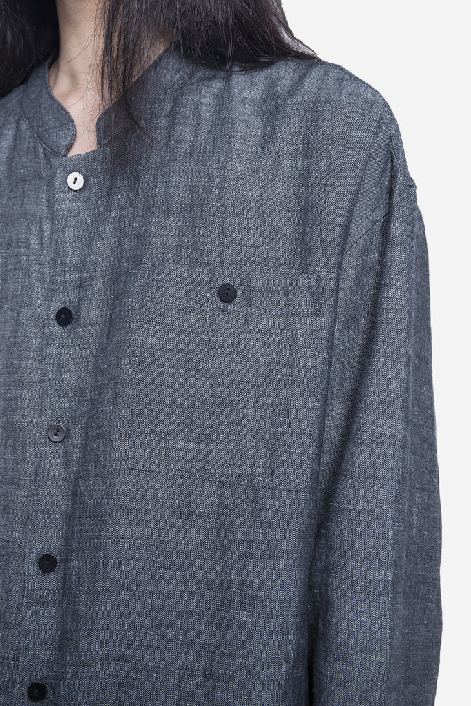 Linen Shirt Jacket Blue