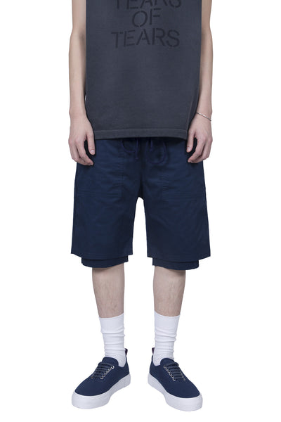 Wilfry - Lightweight Double Layer Short Navy