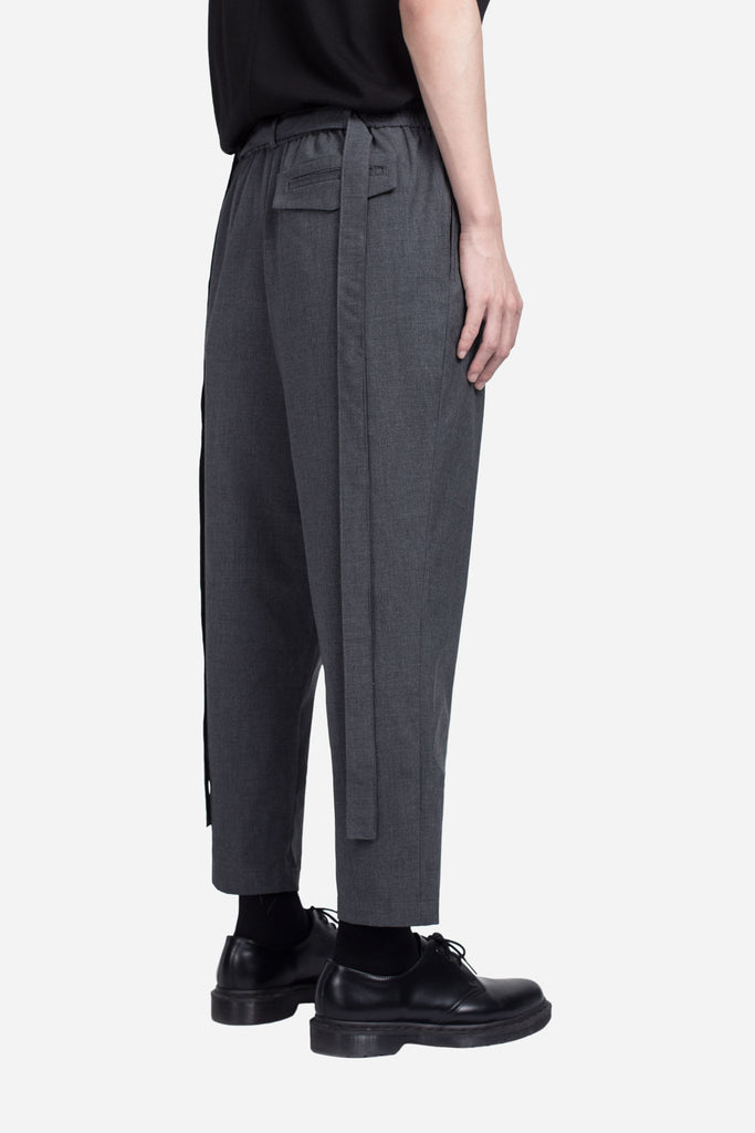 Mich Cropped Casual Trouser Labor Grey