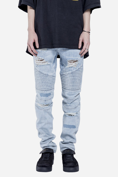 Stampd - Distressed Repaird Denim Indigo