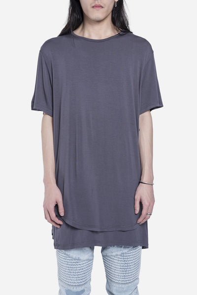 Stampd - Double Layer Scallop Tee Charcoal