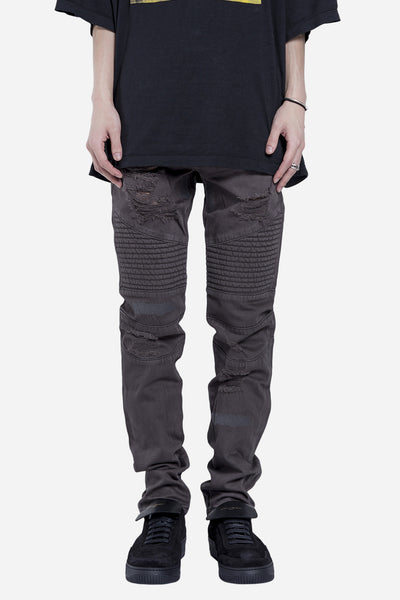 Stampd - Distressed Repaird Denim Charcoal