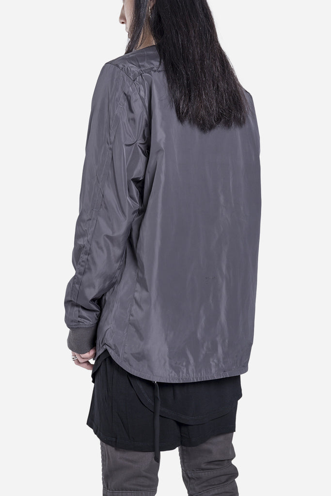 Scalloped Bomber Charcoal
