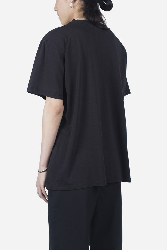 Essential Mock Tee Washed Black