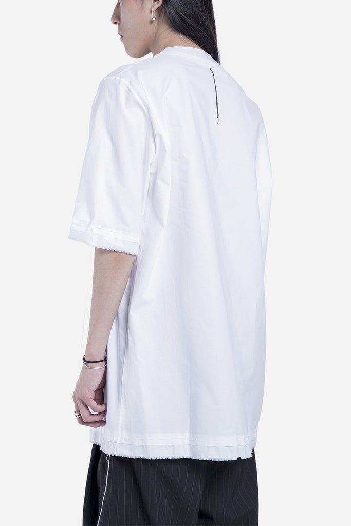 Tireo Stitched Top Shirt White