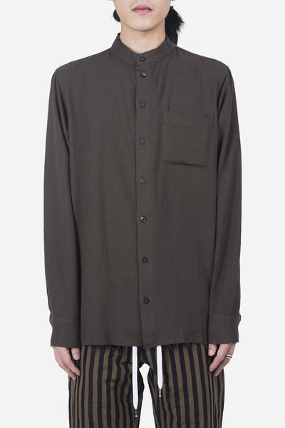palm angels - Military Shirt Green