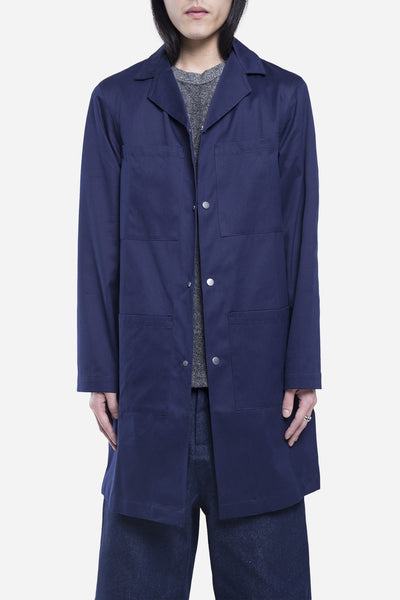 Agi & Sam - Drill Lab Coat Navy