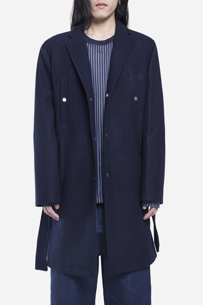 Agi & Sam - Melton SB Coat Navy