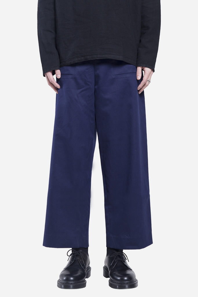 Drill Patch Pocket Trousers Navy