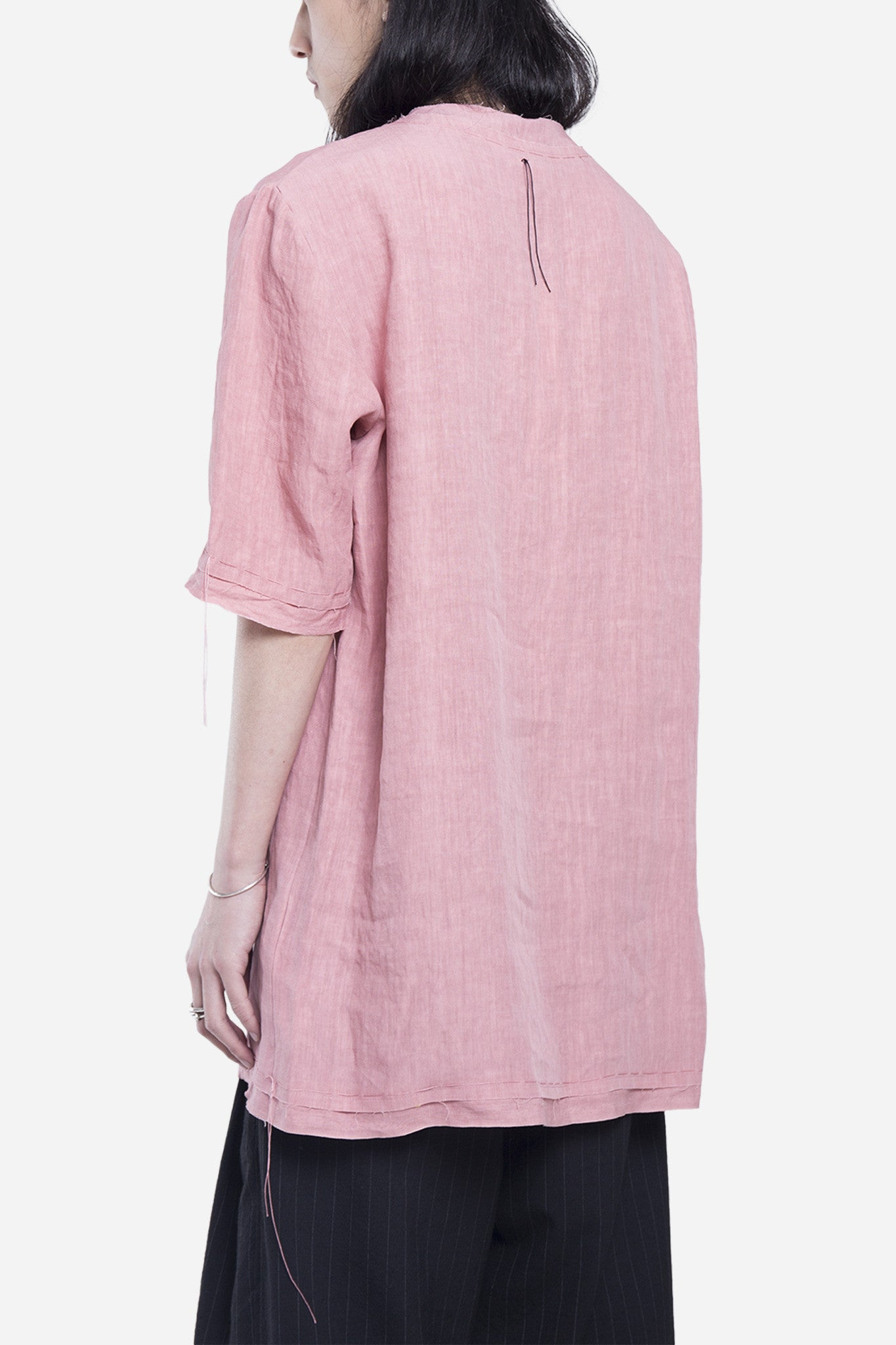Tireo Stitched Top Shirt Rose