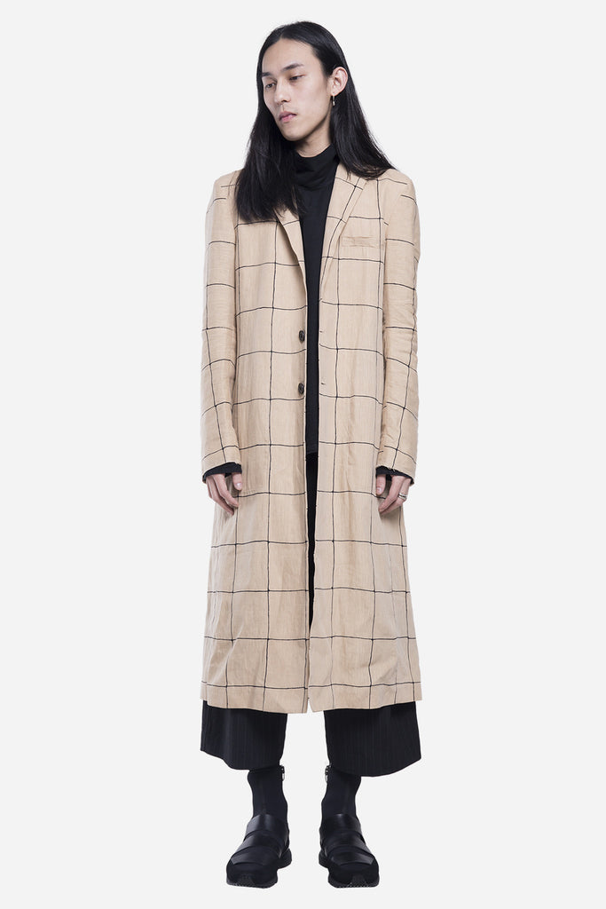 Catharus Long Coat Print Raw