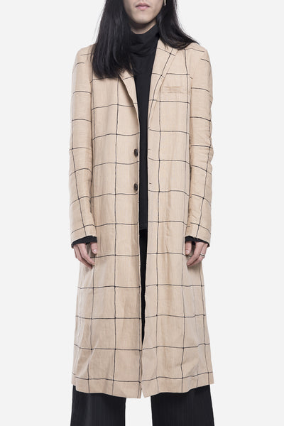damir doma - Catharus Long Coat Print Raw